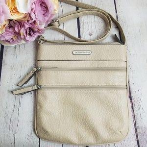 Jaclyn Smith Tan Cream Crossbody Bag